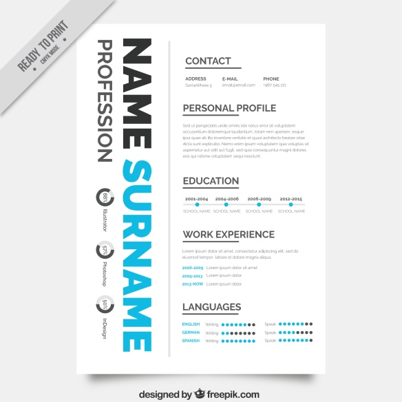 curriculum creativo gráfico